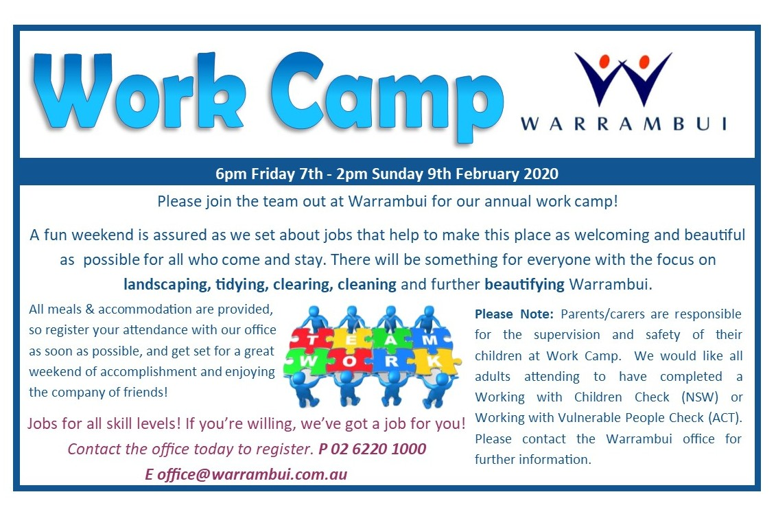 Warrambui Work Camp notice