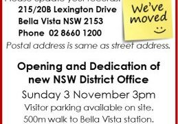 2019 Nov 3 District Opening