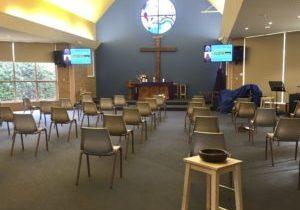 Social distanced worship